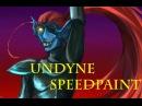 Undyne points heroically towards the sky |Undertale speedpaint|