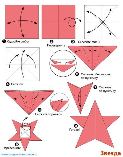 Вырезать звезду из бумаги своими руками