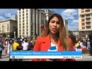 Русский болельщик в прямом эфире поцеловал испанскую журналистку