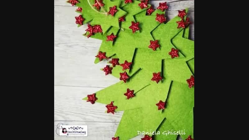 Декоративная новогодняя ёлочка своими руками — Maria Mancini