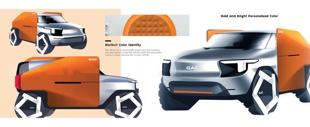 Проект Nicy B Chan GAC Micro SUV 2027 Магистерская диссертация, Колледж для творческих исследований, Детройт. Проект выполнен при поддержке компании GAC Motor.GAC Micro SUV - это концепт