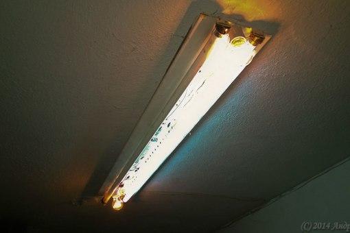 Причем, эти лампы стояли еще