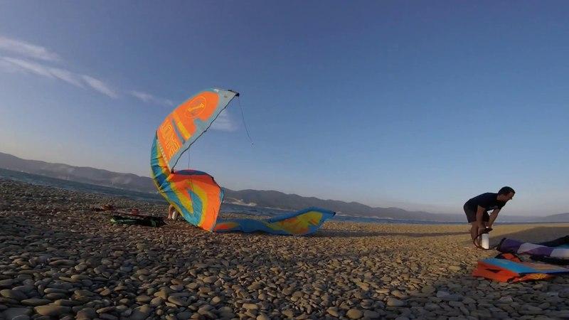 Kiteboarding Novorossiysk (Wind 10 - 15 m/s)