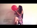 Sexy Twerking - [Balloon Fetish] Hot n Cute Summer Flowery Looner Girl Discovers Sit to Pop