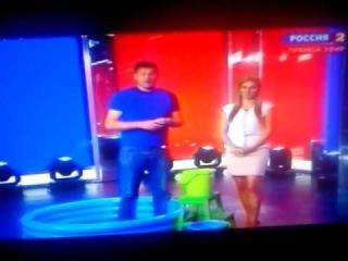 Ice Bucket Challenge от Дмитрия Губерниева в прямом эфире программы