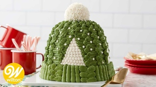 How to Make a Winter Knit Hat Buttercream Cake   Wilton