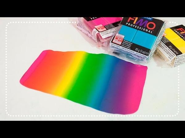 [TUTO] Dégradé Arc En Ciel en FIMO / Polymer Clay RAINBOW Skinner Blend