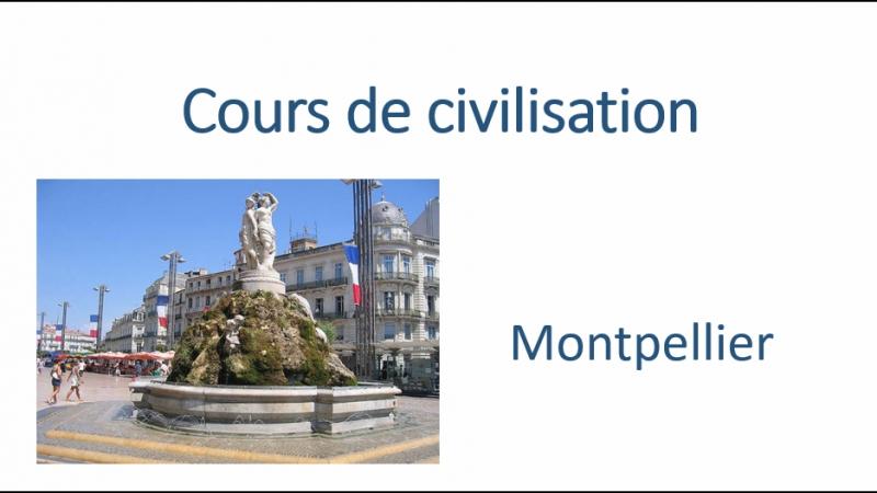 Cours de civilisation 1 Montpellier
