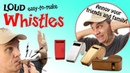 Make a really loud referee or police whistle | 2013 New Years Noisemaker