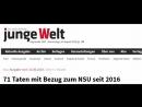 71 Taten mit Bezug zum NSU seit 2016 -Tageszeitung junge Welt-