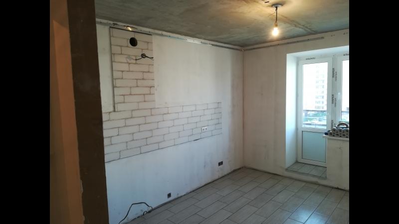 ул. Возрождения. Ремонт 2-комнатной квартиры 50 м2 под ключ. Выполнено Подготовка стен под оклейку обоями. Укладка плитки в с