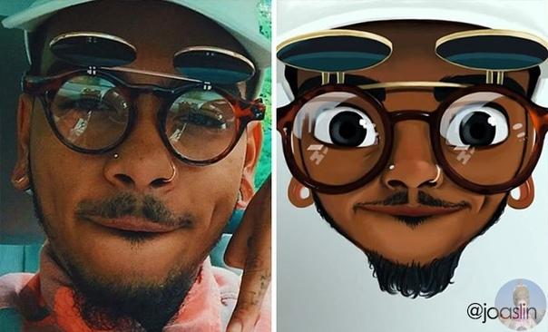 Фотографии, превращенные в рисунки. В последние несколько лет иллюстратор по имени JoAsLiN рисовала портреты людей в стиле популярных мультипликационных студий Дисней и Пиксар. Полуреалистичные