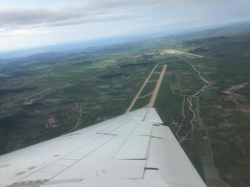 Северная Корея Владивосток. Аэропорт Пхеньяна с высоты