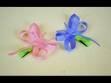 DRAGONFLY Ribbon Sculpture Spring Bug Animal Hair Clip Bow DIY Free Tutorial by Lacey