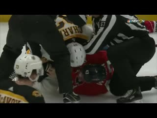Wilson and chara drop the mitts