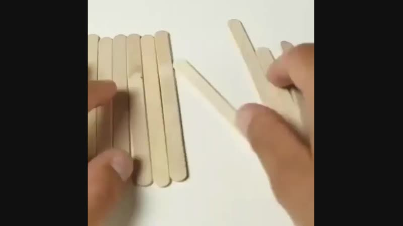 Строим кукольный дом из палочек для мороженого