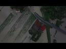 Live la Lunca marcusului inundata de raul Tarlung la granita dintre Brasov si Covasna