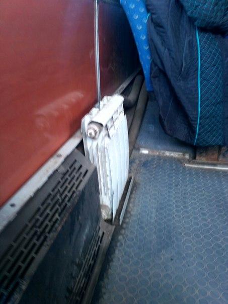 Просто радиатор в одном из автобусов Красноярска. Ничего нового....  #