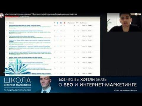 ТЗ на SEO текст Мастер-класс по созданию ТЗ для копирайтеров информационных сайтов