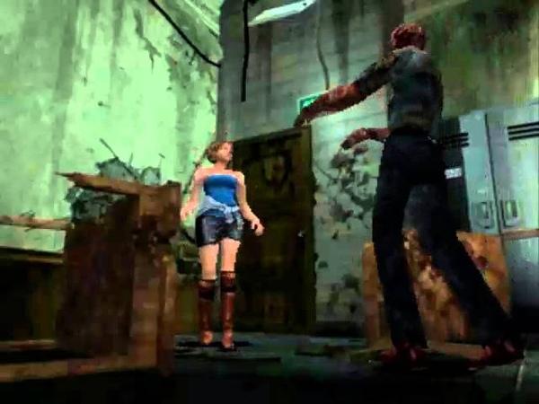 [PS1USA] Resident Evil 3 (Hard, Jill) [KNIFE ONLY] - 02. Недобрая 1-ая встреча с Немезисом