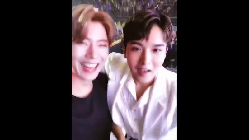 190526 hallyu pop fest kihyun's self cam with ryeowook