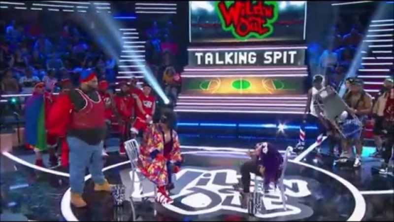SB_Group| Sasha Banks and Nick Cannon competing in «Talking Spit» Part 2 | «Wild 'N Out»