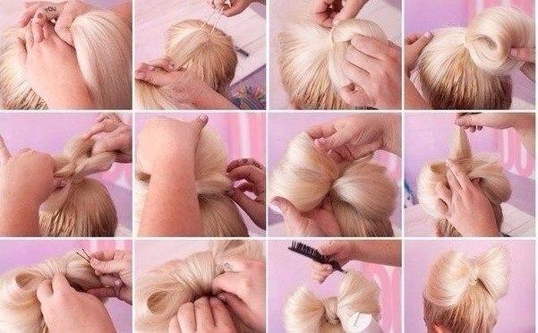 Как сделать бант в волосах - Авто Шарм