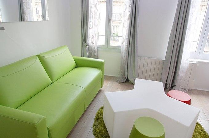 Дизайн квартиры-студии 35 м в центре Парижа / Франция - http://kvartirastudio.
