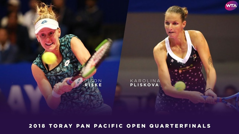 Alison Riske vs. Karolina Pliskova | 2018 Toray Pan Pacific Open Quarterfinals 東レPPOテニス | Highlights