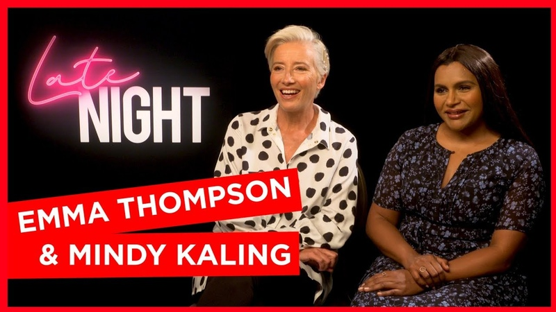 'They're so nice': Emma Thompson Mindy Kaling tease hiring the Jonas Brothers in Late Night sequel
