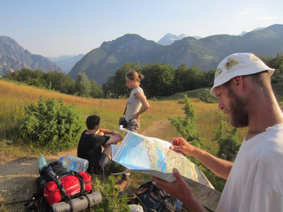 в горах Албании