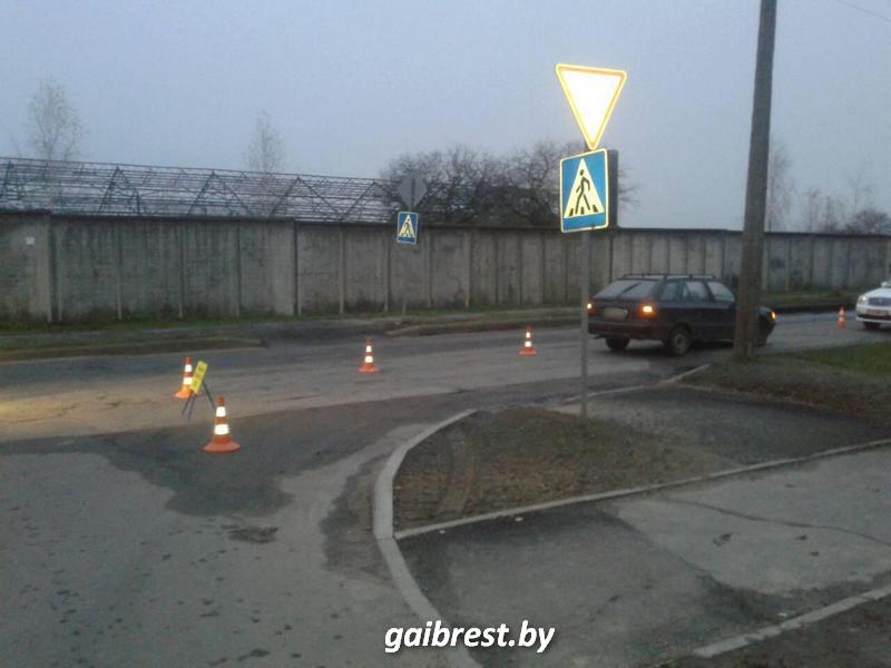 В Барановичах на пешеходном переходе пострадала женщина