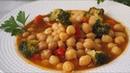 Garbanzos con verduras Muy fácil y saludable
