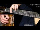 Study in E Minor (Tarrega) - fingerstyle + TAB! Learn to play classic guitar