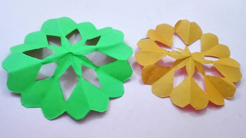 How to make Paper flower room decor DIY Christmas Decoration craft making at home