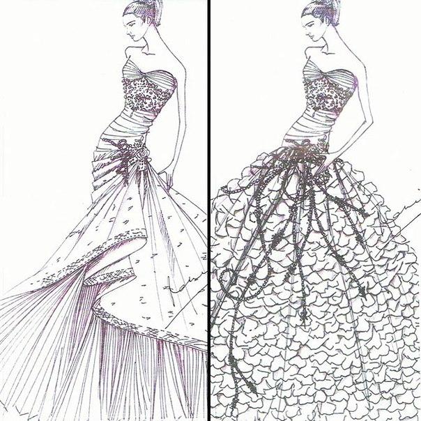 модели для рисования одежды