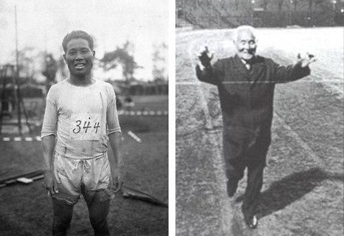 Выдающийся марафонец На Олимпиаде 1912г., проходившей в Стокгольме, произошло ЧП пропал один из марафонцев. Пробежав около 30-ти километров японский бегун Шицо Канагури почувствовал сильную
