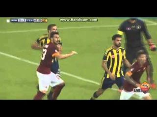 Mattia Destro Goal - AS Roma Vs Fenerbahce 3-3 (Friendly Match) 19.08.2014