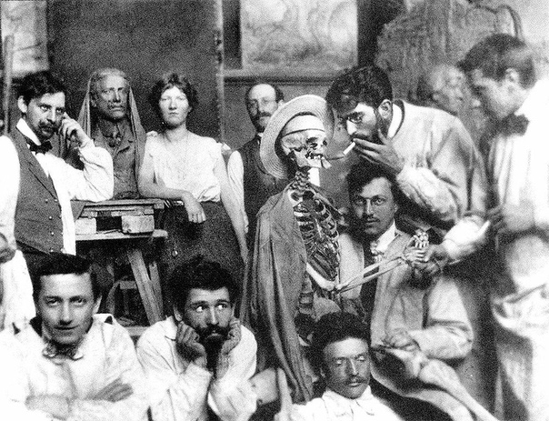 Cтуденты Императорской Академии художеств.