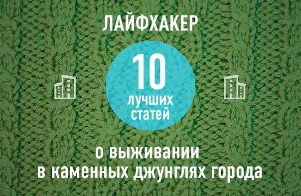 ТОП-10: Лучшие статьи о выживании в каменных джунглях города →