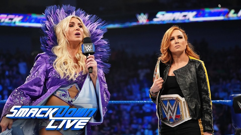 Becky Lynch and Charlotte Flair come face to face SmackDown LIVE April 23 2019