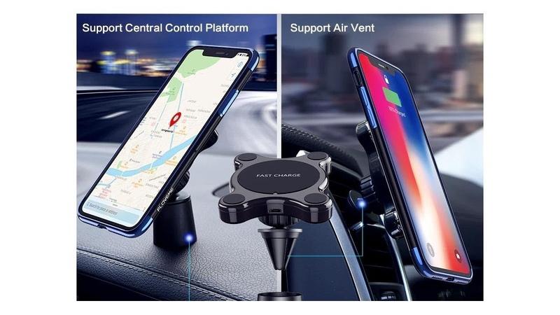 Автомобильный держатель телефона с функцией беспроводной зарядки FLOVEME