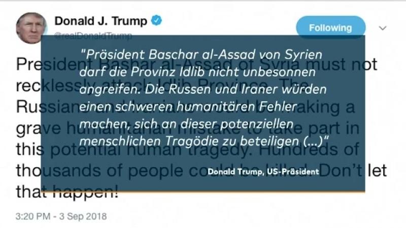 SYRIEN- US-Präsident Trump warnt vor Angriff auf Idlib