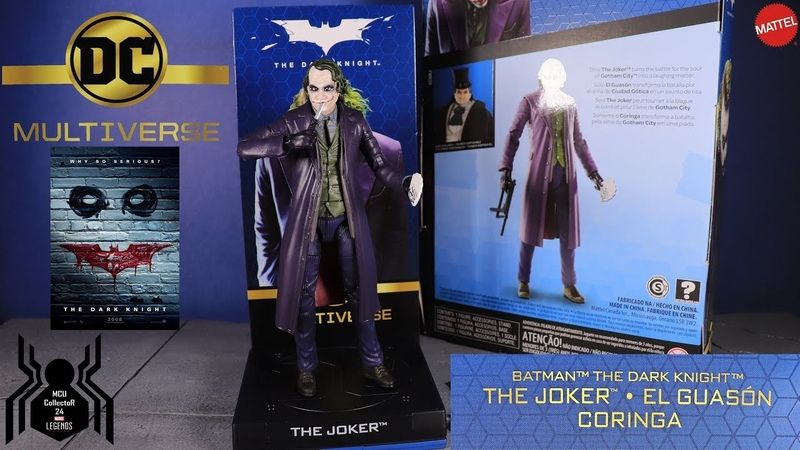 DC Multiverse JOKER Heath Ledger The Dark Knight Signature Collection Figure Review