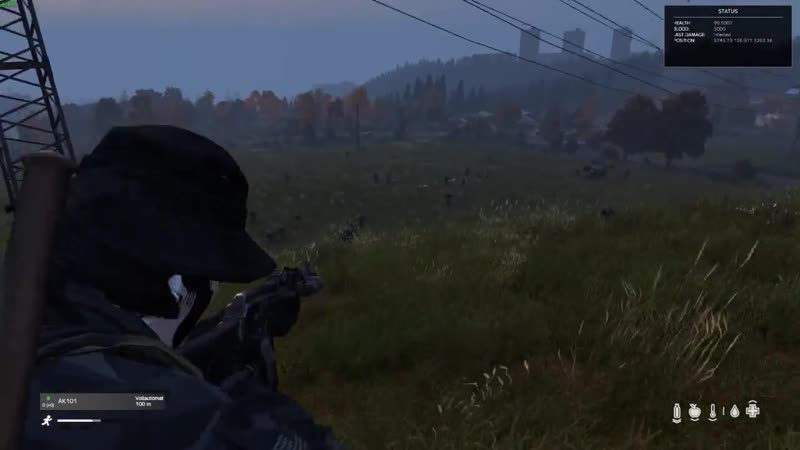 DayZ, PvE Experience - INTENSE FIREFIGHT 60 ZETS - That was so fun (start at 00_28)