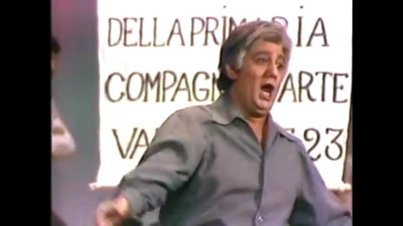 Pagliacci - Plácido Domingo, Juan Pons, Perez-Iñigo, Porras, Grijalba, De Fabritis, La Zarzuela 1979