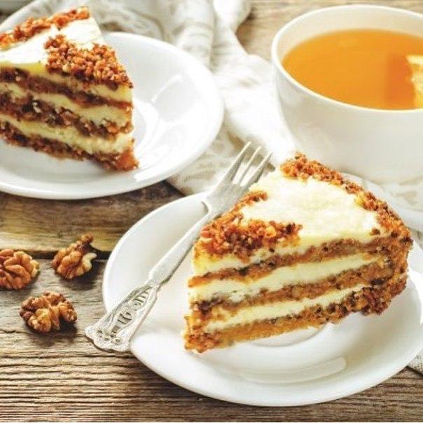 Морковный торт: поднимет настроение даже в самый пасмурный день!
