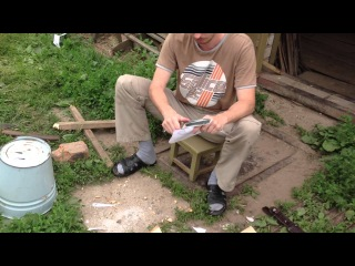 Жесткий тест ножа Друг от БЕЛЫЙ ТЮЛЬПАН (Hard using unbreakeble knife)