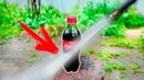 ЧТО ЕСЛИ разрезать водой бутылку колы ?!