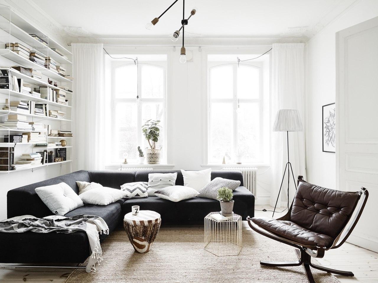 Дизайн интерьера двухкомнатной квартиры в шведском стиле